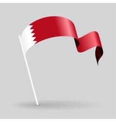 Bahrain wavy flag vector image vector image