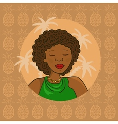 Beautiful African Girl vector image vector image