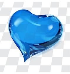 Big transparent heart vector image