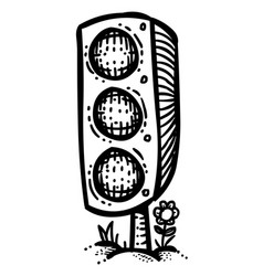 cartoon image of traffic light vector image vector image