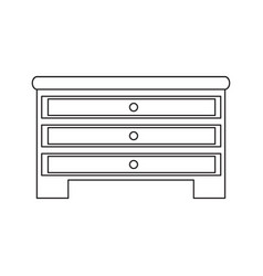 chest of drawers icon vector image