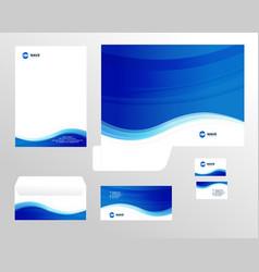 Corporate identity template design visual vector