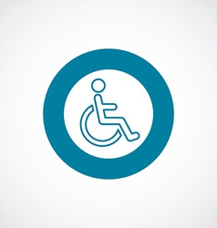 Cripple icon bold blue circle border vector