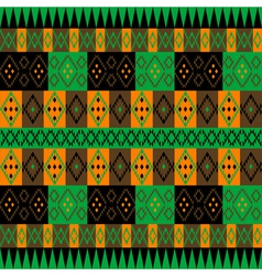 Green and brown ethnic carpet vector