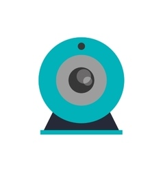 Isolated webcam device design vector