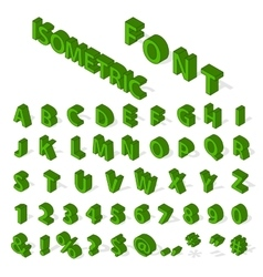 Isometric alphabet font vector image vector image