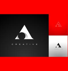 letter a design a logo icon vector image vector image