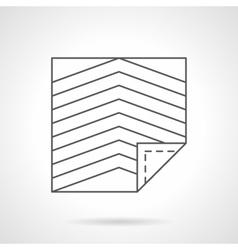 Linoleum flat line icon vector image vector image