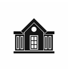 Mansion icon simple style vector