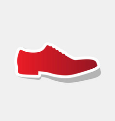 men shoes sign new year reddish icon with vector image