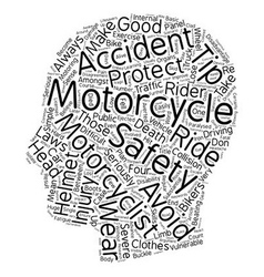 Motorcycle safety tips they re lifesavers text vector