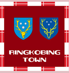 national ensigns of denmark - ringkobing town vector image vector image