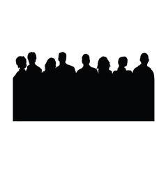 people silhouette on white vector image vector image