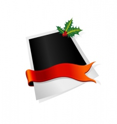 photo with ribbon vector image vector image