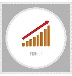 Profit chart5 vector image