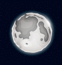 Realistic beautiful night moon globe vector