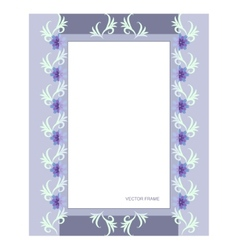Rectangular flower frame vector image