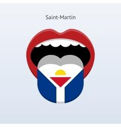 Saint-martin language abstract human tongue vector