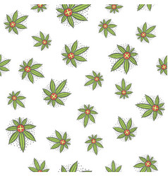 seamless texture medical marijuana five vector image vector image