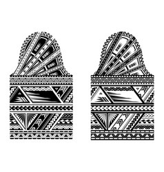 sleeve size maori style tattoo vector image vector image