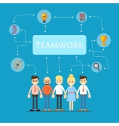 Social network and teamwork banner vector