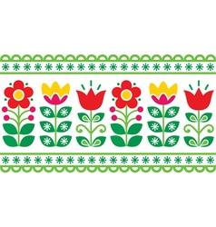 Swedish floral retro pattern - folk art vector image vector image
