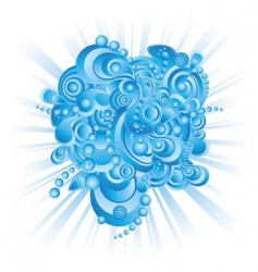 swirl and burst background vector image