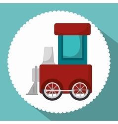 Train toy isolated icon vector