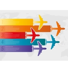 Travel infographic template with colorful vector image vector image