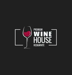 Wine glass border design background vector