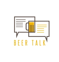 Design template of beer talk concept vector