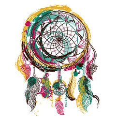 dream catcher with ornament vector image