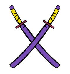 Japanese kendo sword icon icon cartoon vector