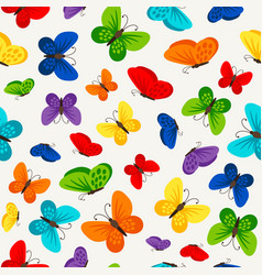 colorful butterflies pattern design vector image