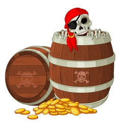 Pirate skeleton vector