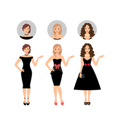 Beauty women set vector