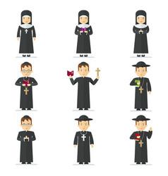 catholic pastor set vector image