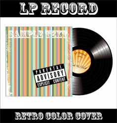 LP vinyl record vector image