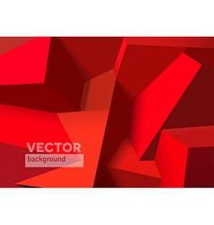 Abstract background with overlapping red cubes vector