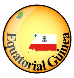 Button equatorial guinea vector