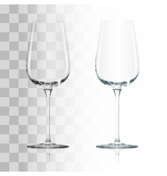 Empty transparent glass vector