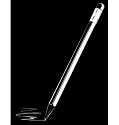 Pencil on black background vector