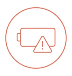 Empty battery line icon vector