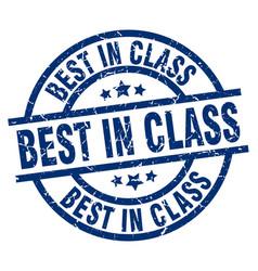 Best in class blue round grunge stamp vector