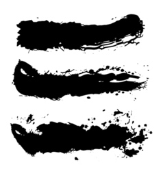 Black paint splash vector image vector image