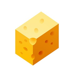 Cheese piece vector