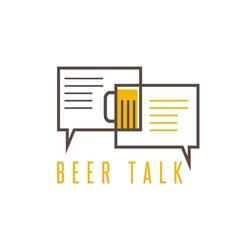 design template of beer talk concept vector image