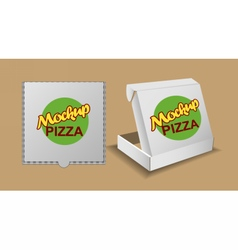 Digital silver recycle paper pizza delivery vector image vector image