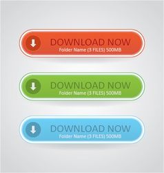 Download Now Buttons vector image vector image