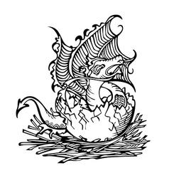 Dragon baby vector